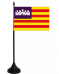 Balearic Islands Desk / Table Flag with plastic stand and base.